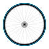 Bicycle wheel. Road bicycle rear wheel with sprockets, vector illustration on white background royalty free illustration