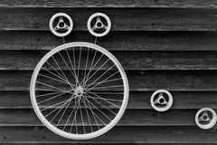 Bicycle wheel background Royalty Free Stock Photography