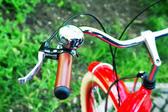 Bicycle wheel with bell Stock Photo