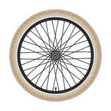 Bicycle wheel. vector  Royalty Free Stock Image