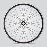 Bicycle wheel. Black and white bicycle wheel royalty free illustration