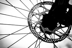 Bicycle wheel (close-up) Royalty Free Stock Image