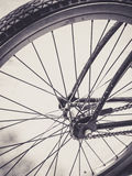 Bicycle wheel close up Royalty Free Stock Photography