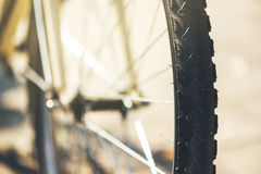 Bicycle wheel close up Stock Images