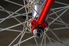 Bicycle wheel, detail Stock Photography