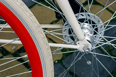 Bicycle wheel. Detail 6 Stock Photography