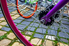 Bicycle wheel. Detail 9 Royalty Free Stock Photo
