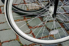 Bicycle wheel. Detail 21 Stock Photography