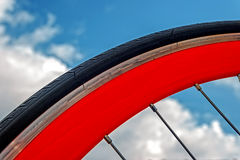 Bicycle wheel. Detail 1 stock photo