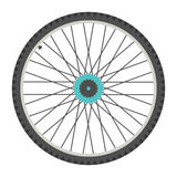 Bicycle wheel in flat style Royalty Free Stock Image