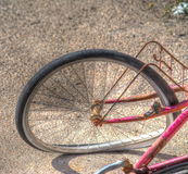Bicycle wheel in hdr tone mapping Stock Photography