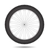 Bicycle Wheel Icon. Isolated on White Background Royalty Free Stock Images