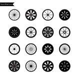 Bicycle wheel icon set. Vector Stock Images