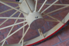 Bicycle wheel. Isolated on brick Stock Image