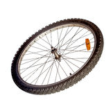 Bicycle wheel isolated Royalty Free Stock Photography