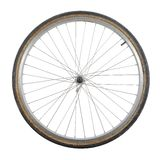 Bicycle wheel. Isolated on white background royalty free stock photo