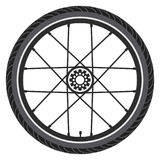 Bicycle wheel. vector  Stock Images