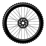 Bicycle wheel isolated on white background. Stock vector illustration stock illustration
