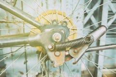 Bicycle Wheel with Light Leak. stock image