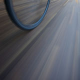 Bicycle wheel with motion blur Royalty Free Stock Photos