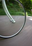 Bicycle wheel in motion Royalty Free Stock Image