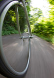 Bicycle wheel in motion Royalty Free Stock Photography