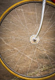 Bicycle wheel with old style Royalty Free Stock Photo