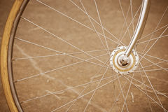 Bicycle wheel with old style Stock Photos