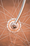 Bicycle wheel with old style Stock Photo