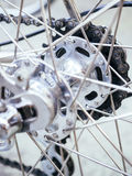 Bicycle wheel parts Chain close up Royalty Free Stock Photography