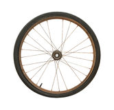 Bicycle wheel. Rusty bicycle wheel isolated on white background Stock Images