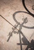 Bicycle wheel and shadow Royalty Free Stock Photo