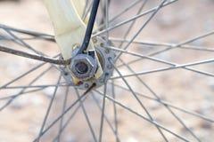 Bicycle wheel spoke detail Royalty Free Stock Images