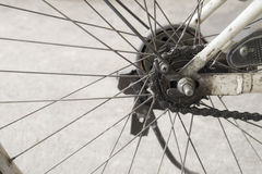 Bicycle wheel spoke detail Stock Image