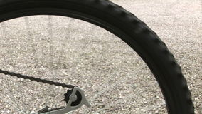 Bicycle wheel stock footage