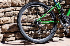 Bicycle Wheel and Tire. In a sunny day Royalty Free Stock Photos