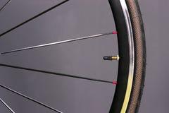 Bicycle Wheel Tire Mounted Bike Gear Spokes Metal Rubber Royalty Free Stock Image