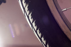 Bicycle wheel tyre close-up Royalty Free Stock Photos