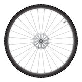 Bicycle wheel, vector. Black bicycle wheel on a white background vector illustration