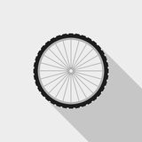 Bicycle wheel vector icon. On grey background Royalty Free Stock Photos