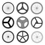 BICYCLE WHEEL. VECTOR AND ILLUSTRATION Royalty Free Stock Photos