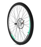 Bicycle wheel. On white background Royalty Free Stock Photography