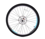 Bicycle wheel. On white background royalty free stock photo