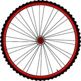 Bicycle wheels. With spin and tires isolated on white Stock Photography