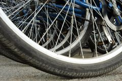 Bicycle wheels royalty free stock image