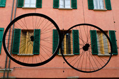 Bicycle wheels Royalty Free Stock Photos