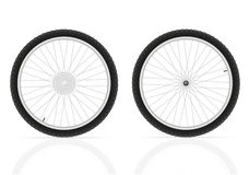 Bicycle wheels vector illustration Stock Images