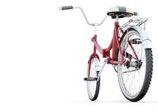 Bicycle on a white back angle view Stock Photos