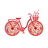 Bicycle  on a white background. Royalty Free Stock Image