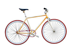 Bicycle on white background Royalty Free Stock Photos